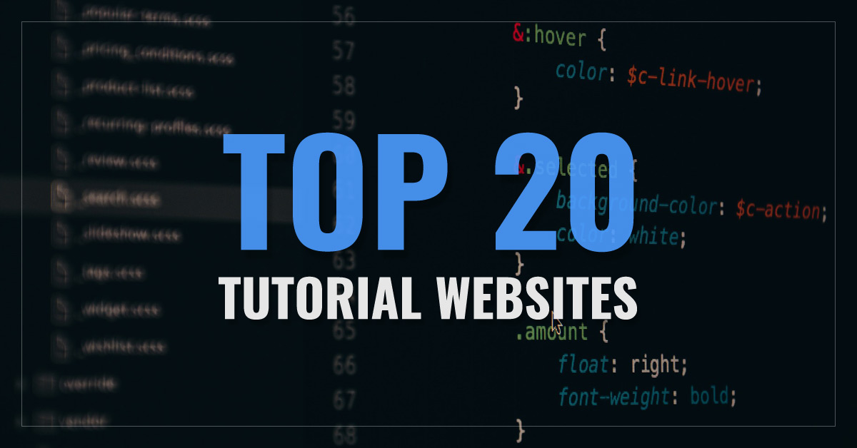 Top 20 Tutorials Websites