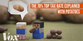 The 70% top tax rate, explained with potatoes - Vox