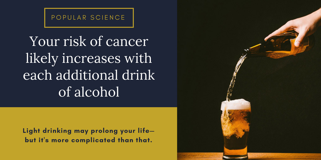 Your risk of cancer likely increases with each additional drink of alcohol - Popular Science