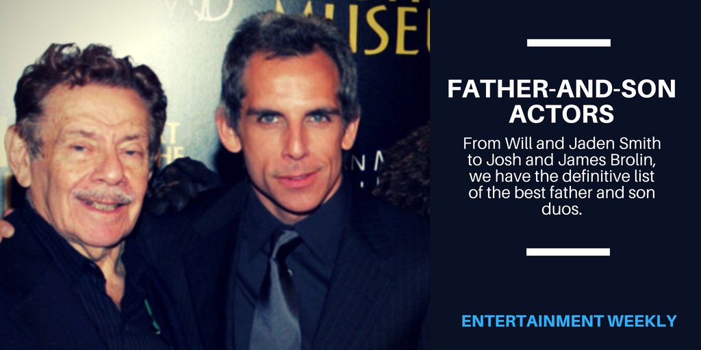 40-plus father-and-son actors - Entertainment Weekly
