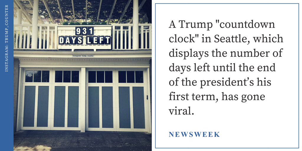 President Trump 'Countdown Clock' Showing Days Until His Term Ends Goes Viral - Newsweek