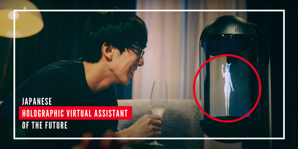 Japanese Holographic virtual assistant of the future
