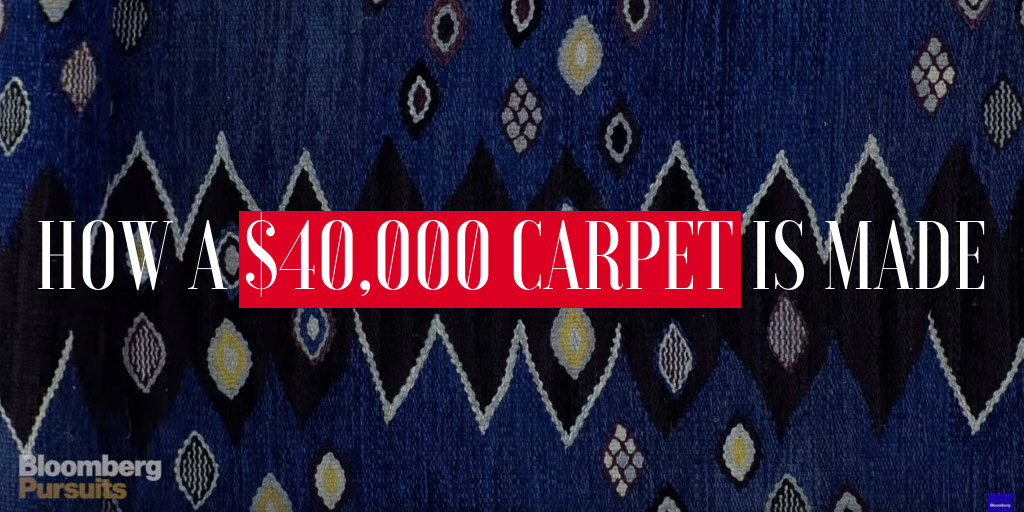 How a $40,000 Carpet Is Made - Bloomberg