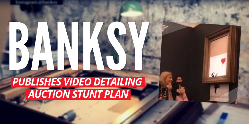 Banksy publishes video detailing auction stunt plan - The Guardian
