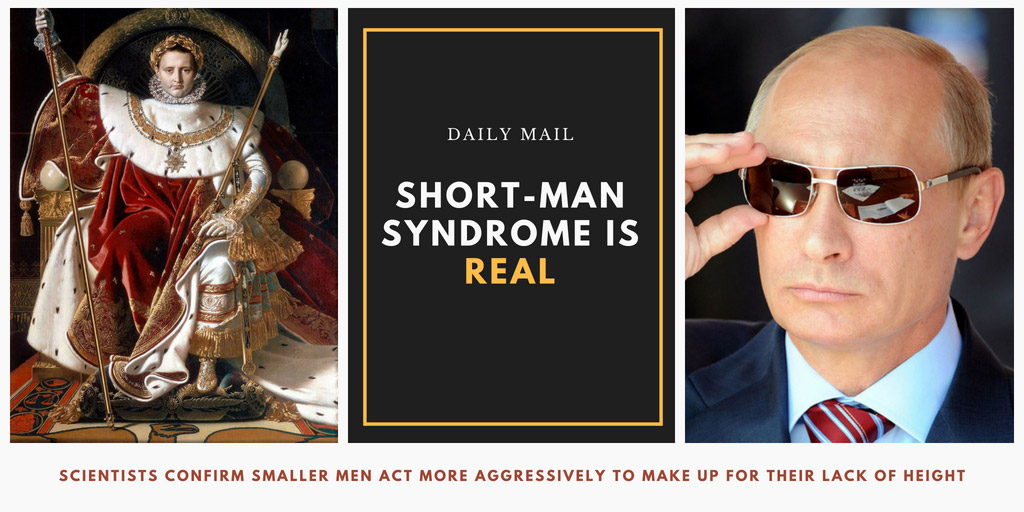 Short-man syndrome is Real - Daily Mail