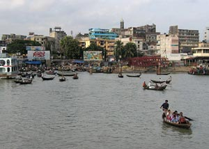 Sadarghat port in Dhaka, Bangladesh - Photographer: Michael Reeve