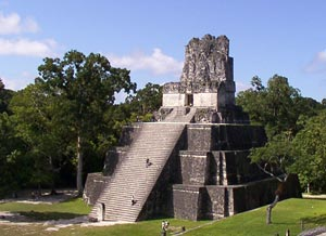 Maya Temple, Tikal, Belize - Photographer: Kyle Flood