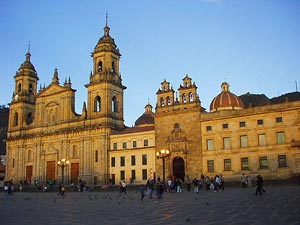 The Plaza of Bolivar, Bogota, Colombia - Photographer: Kinori