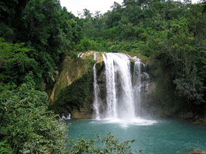 Waterfall at Saut Maturine in the south-east of Haiti - Photographer: James Colin