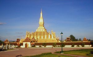 The stupa 'That Louang' in Vientiane, Laos
