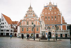 Town Hall Square and 'Guild of Blackheads' House- Riga, Latvia