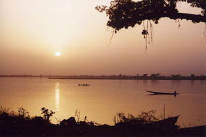 Sunset in Segou, Niger - Photographer: Robin Taylor