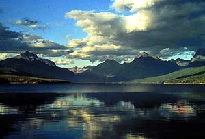 Lake McDonald, in Glacier National Park, Montana, USA
