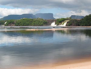 Canaima Lake in Venezuela