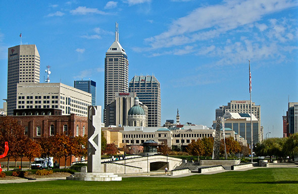 Indianapolis skyline - Photographer: ellenm1