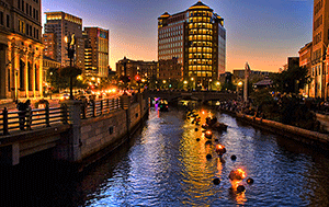 Waterfire in Providence - Photographer: liz west